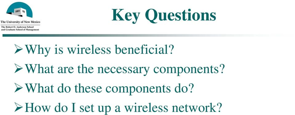 What are the necessary components?
