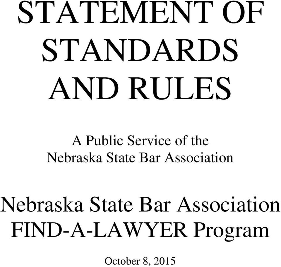 Bar Association Nebraska State Bar