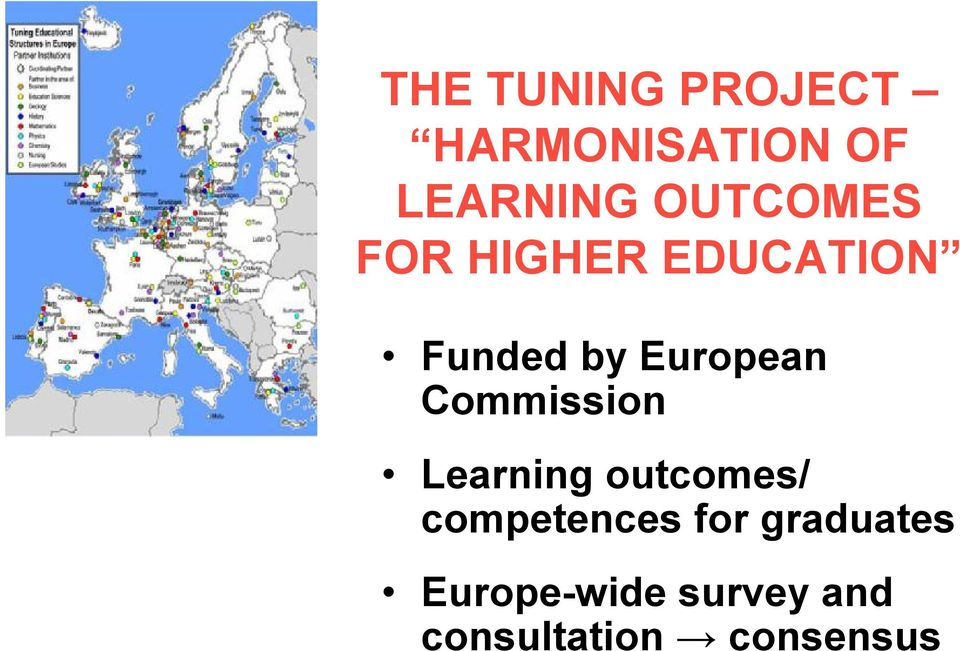 Commission Learning outcomes/ competences for