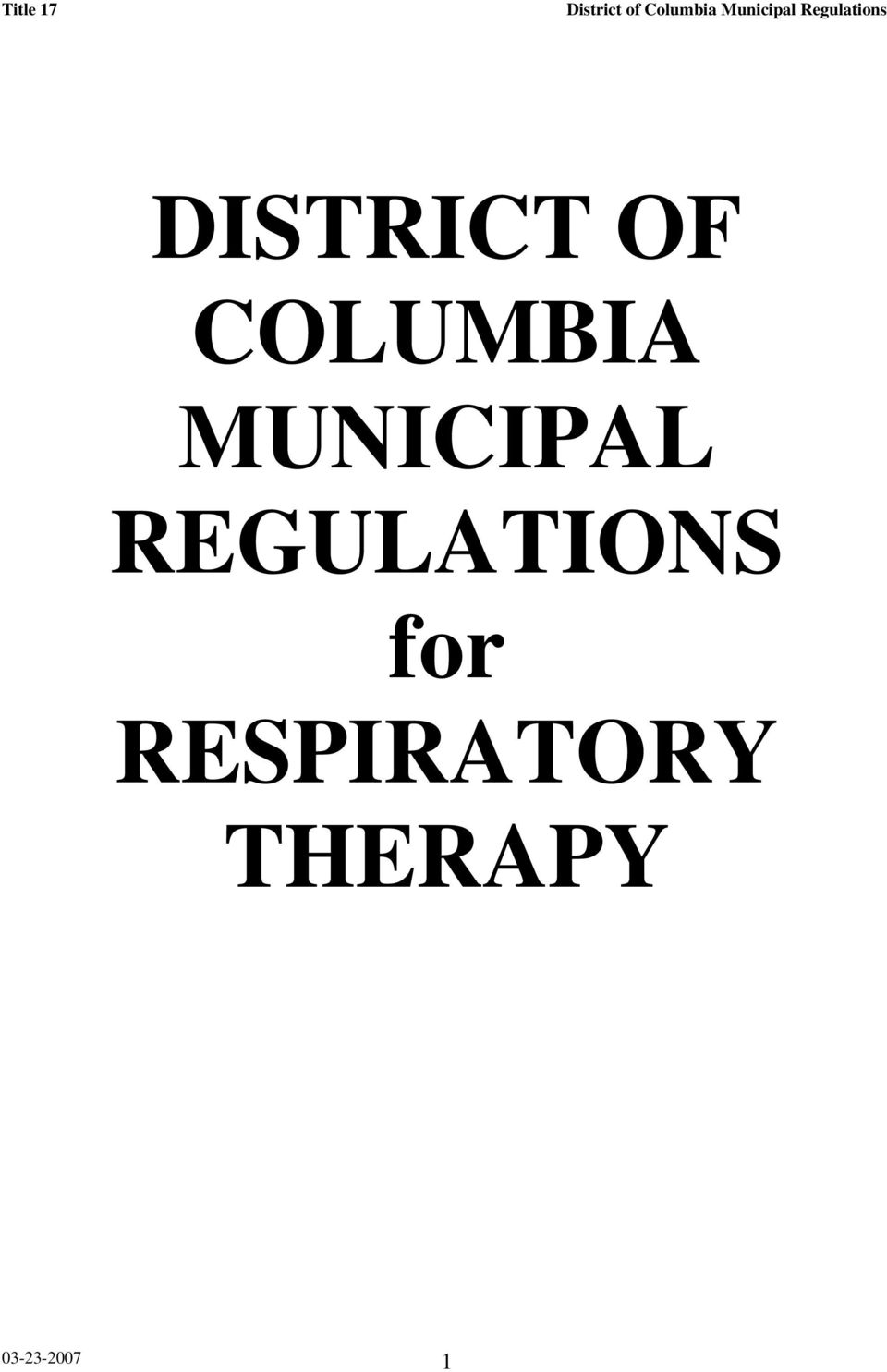 REGULATIONS for