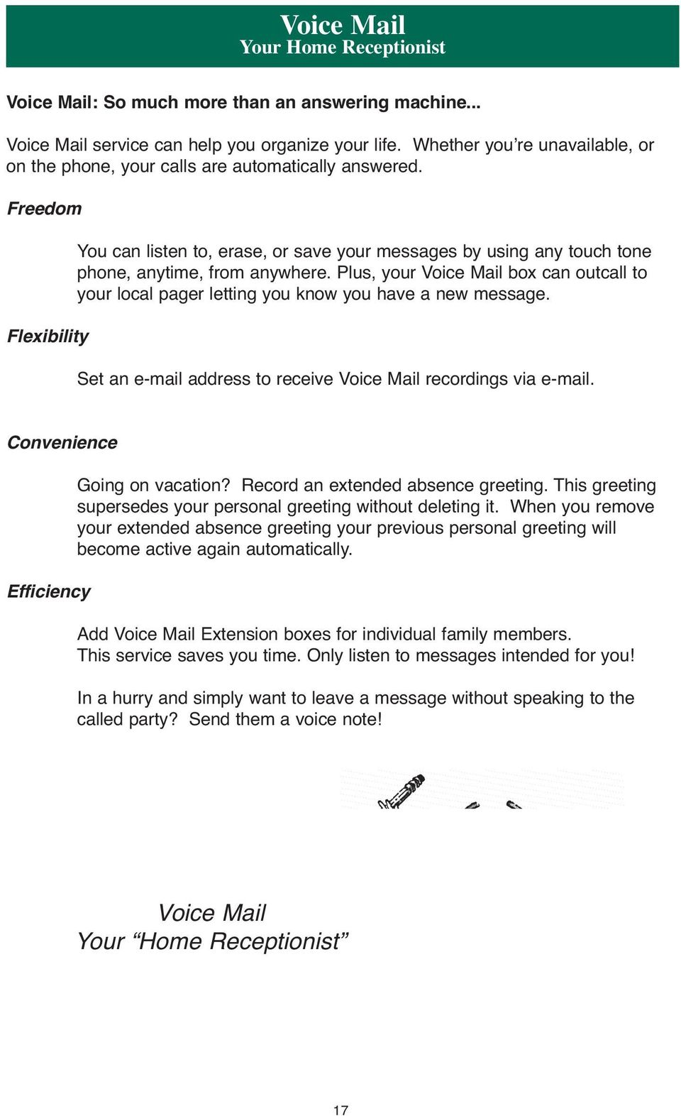 Voice Mail Guide One Of Your Vtel Neighbors Real People Real