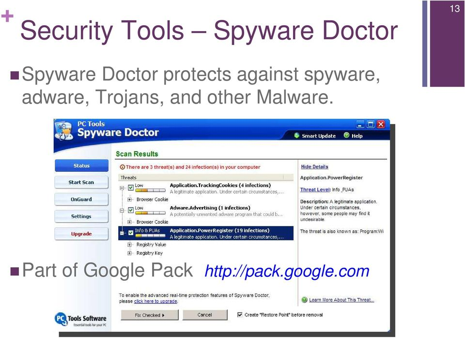 spyware, adware, Trojans, and other