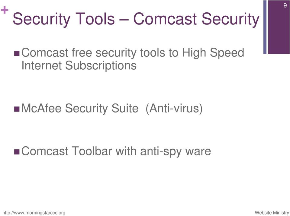 McAfee Security Suite (Anti-virus) Comcast Toolbar