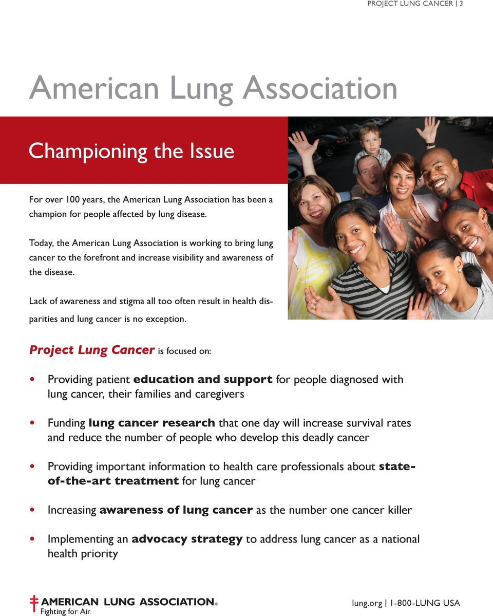 Lack of awareness and stigma all too often result in health disparities and lung cancer is no exception.