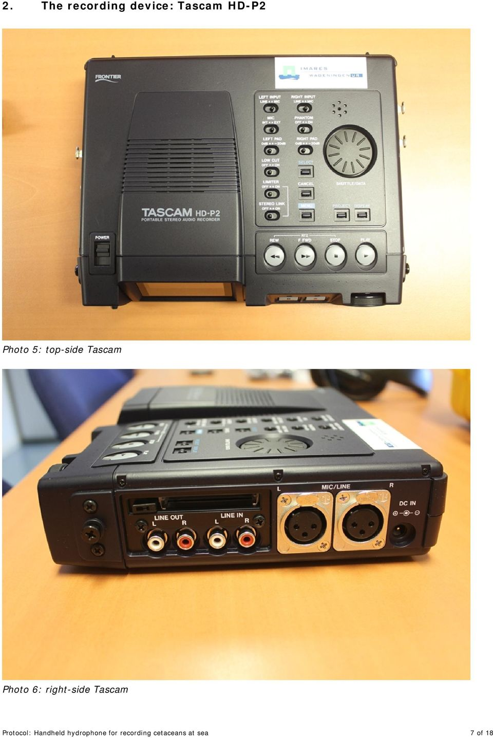 right-side Tascam Protocol: Handheld