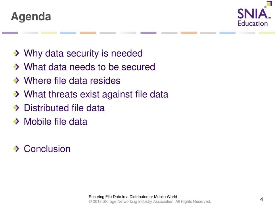 What threats exist against file data