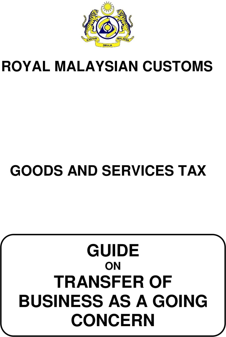GUIDE ON TRANSFER OF