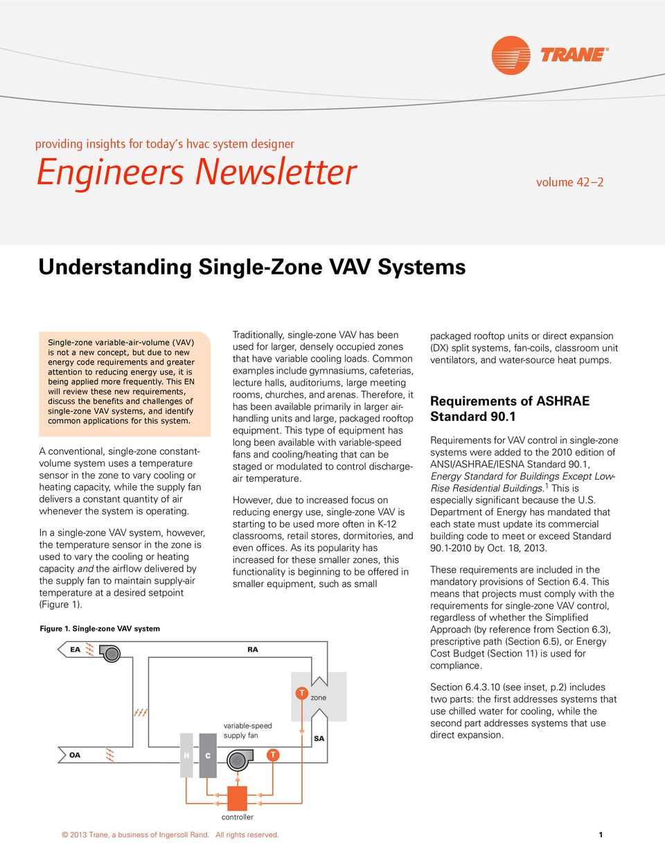 This EN will review these new requirements, discuss the benefits and challenges of single-zone VAV systems, and identify common applications for this system.