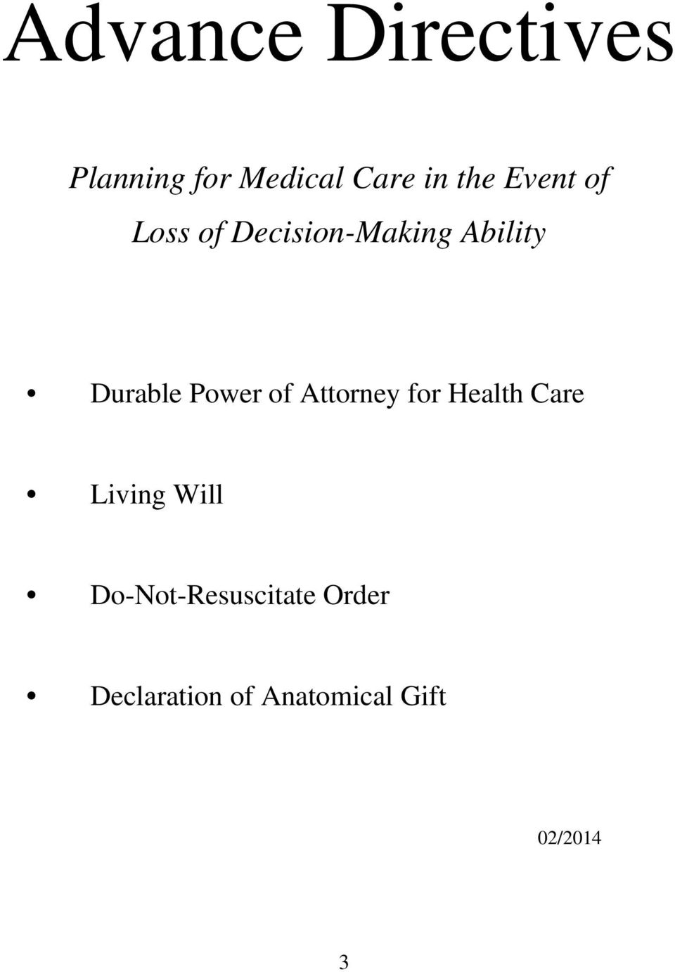 Power of Attorney for Health Care Living Will