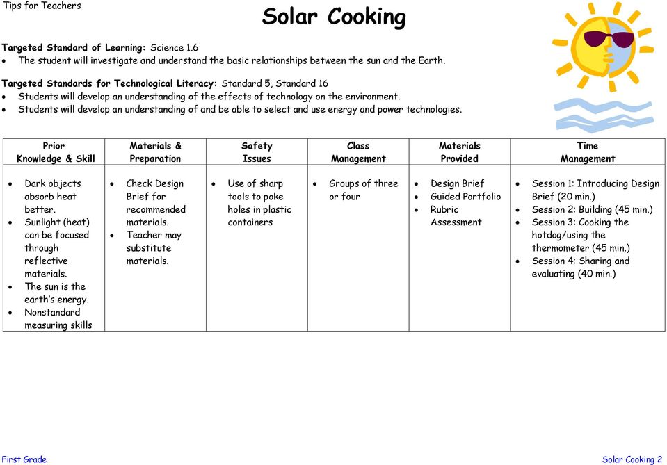 Students will develop an understanding of and be able to select and use energy and power technologies.