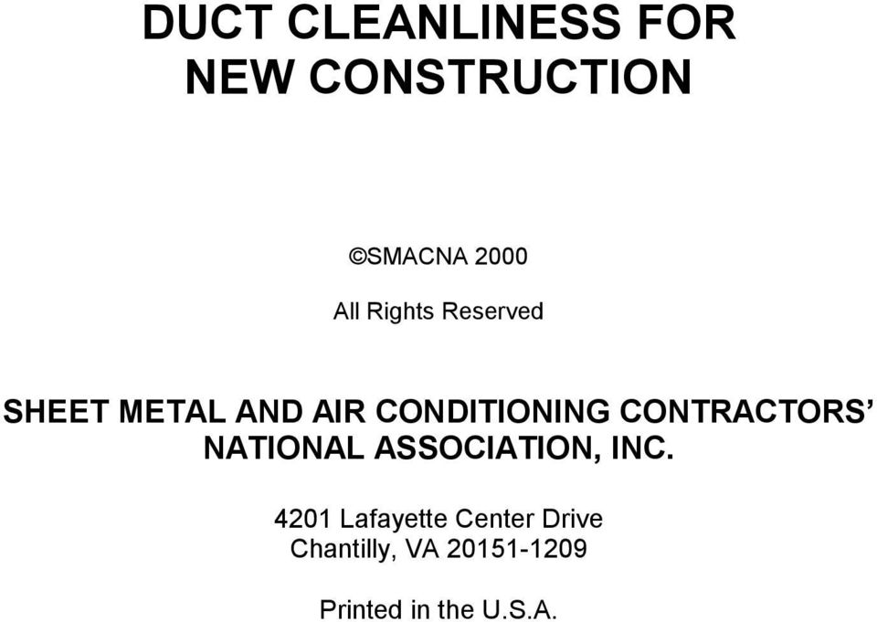 CONTRACTORS NATIONAL ASSOCIATION, INC.