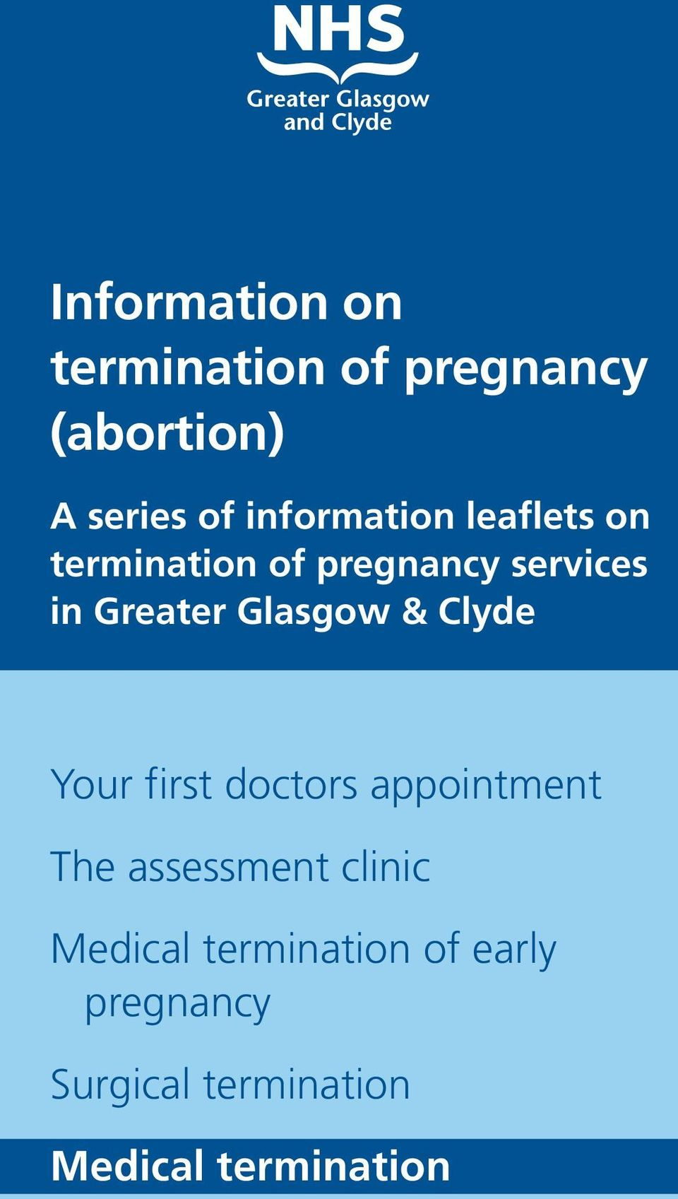Glasgow & Clyde Your first doctors appointment The assessment clinic