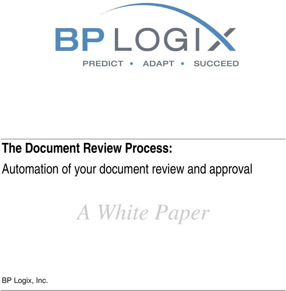 your document review and