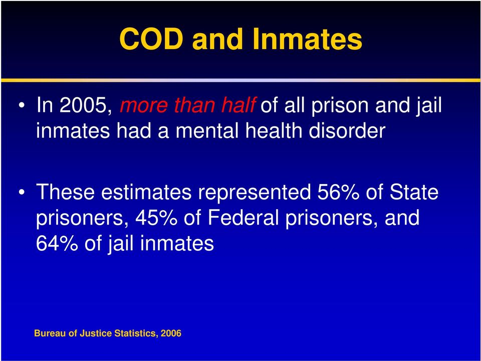 represented 56% of State prisoners, 45% of Federal
