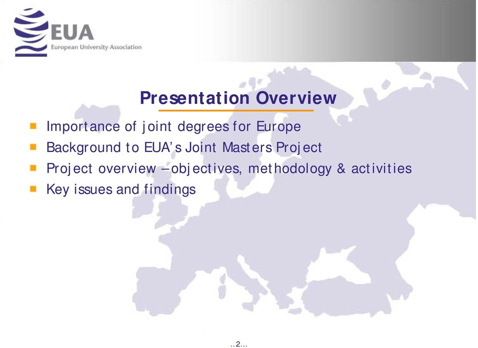 Masters Project Project overview objectives,