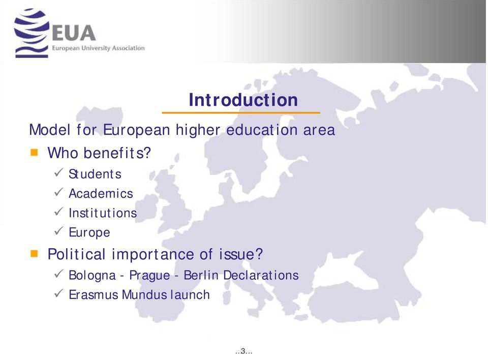 Students Academics Institutions Europe Political