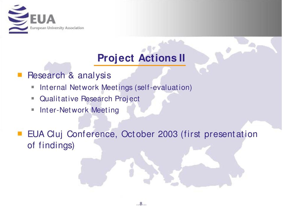 Research Project Inter-Network Meeting EUA Cluj