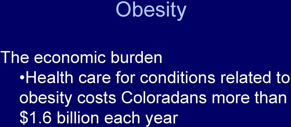 related to obesity costs