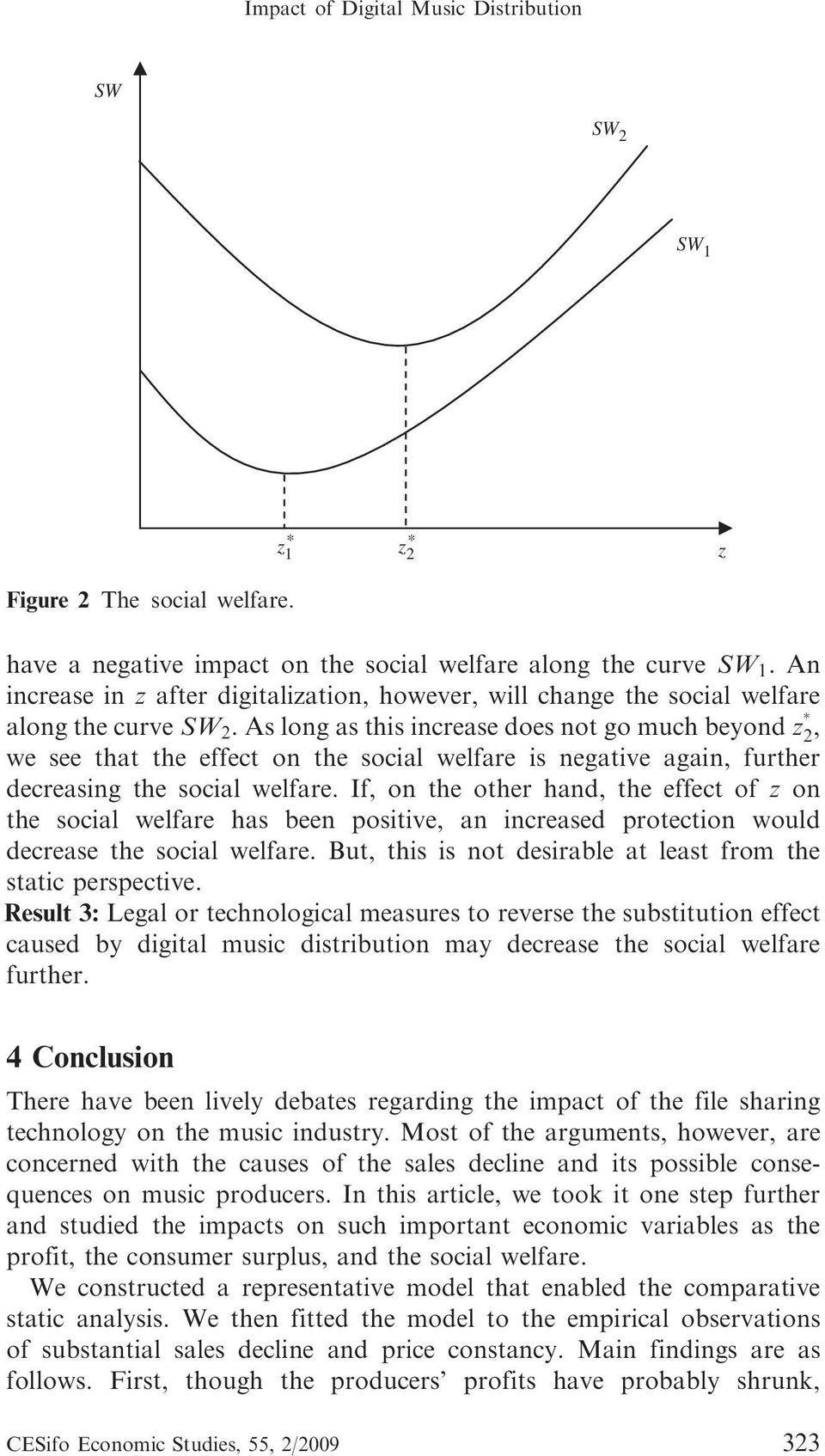 As long as this increase does not go much beyond z 2, we see that the effect on the social welfare is negative again, further decreasing the social welfare.