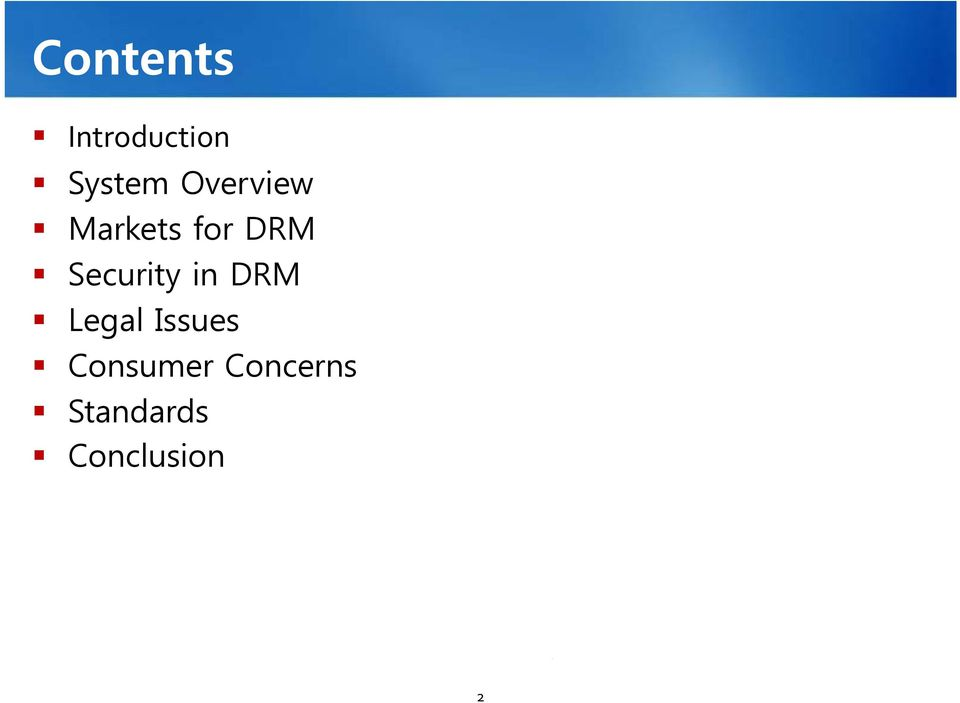 Security in DRM Legal Issues