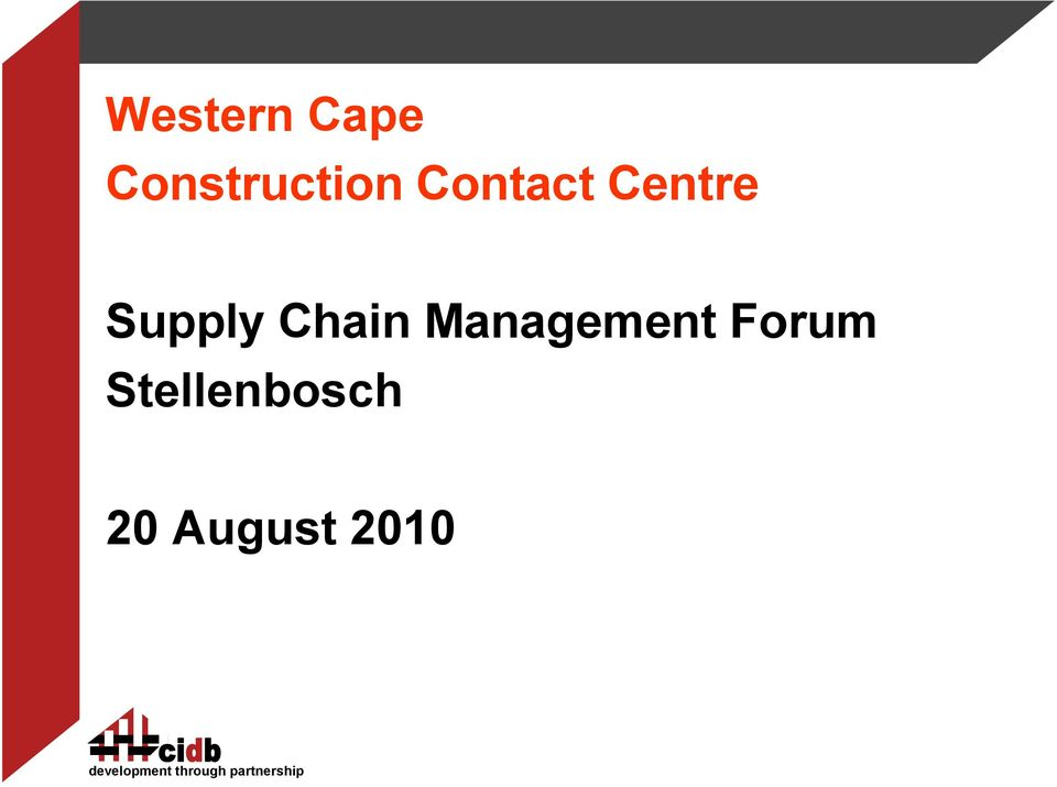Centre Supply Chain