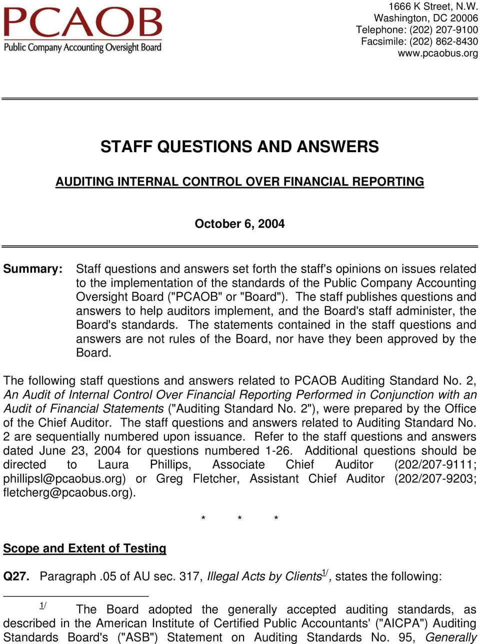 "standards of the Public Company Accounting Oversight Board (""PCAOB"" or ""Board"")."
