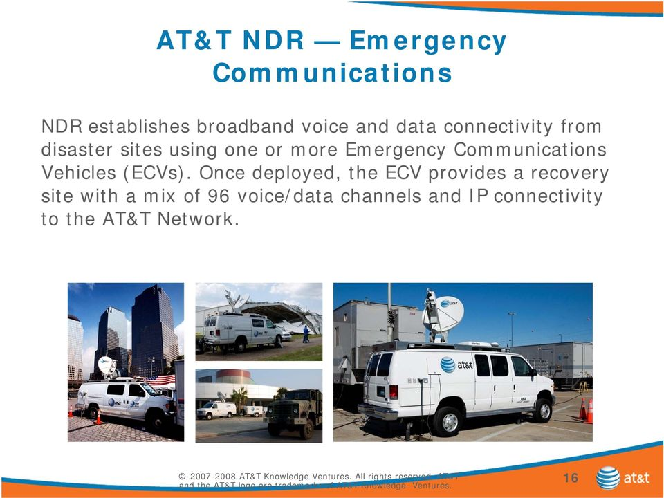 Communications Vehicles (ECVs).