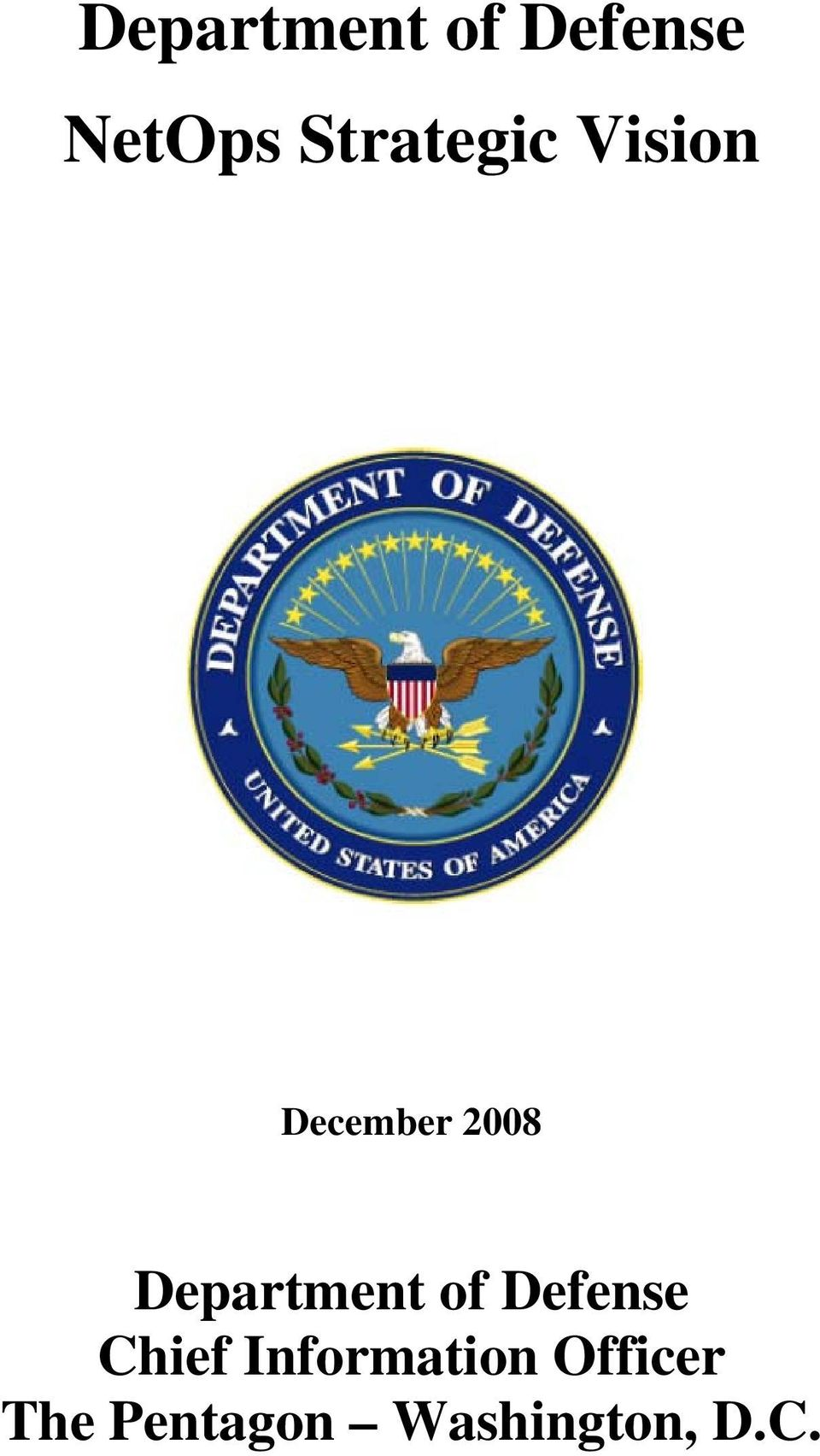 Department of Defense Chief