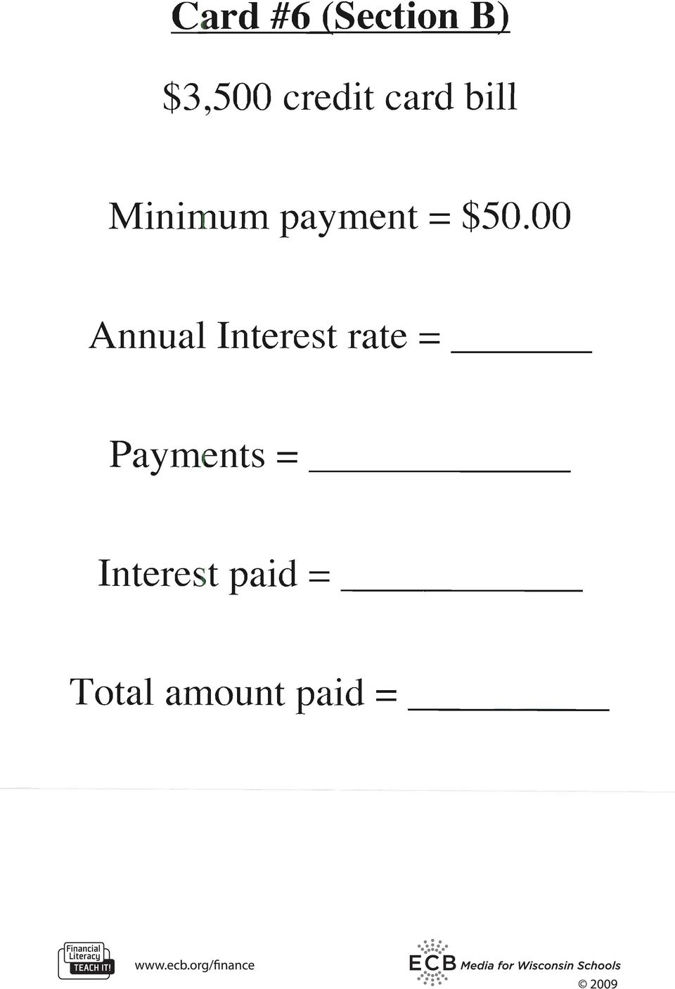 00 Annual Interest rate = ---
