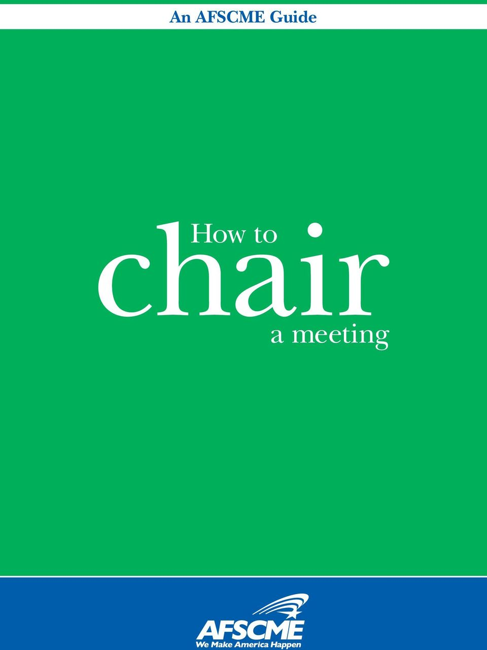 chair How