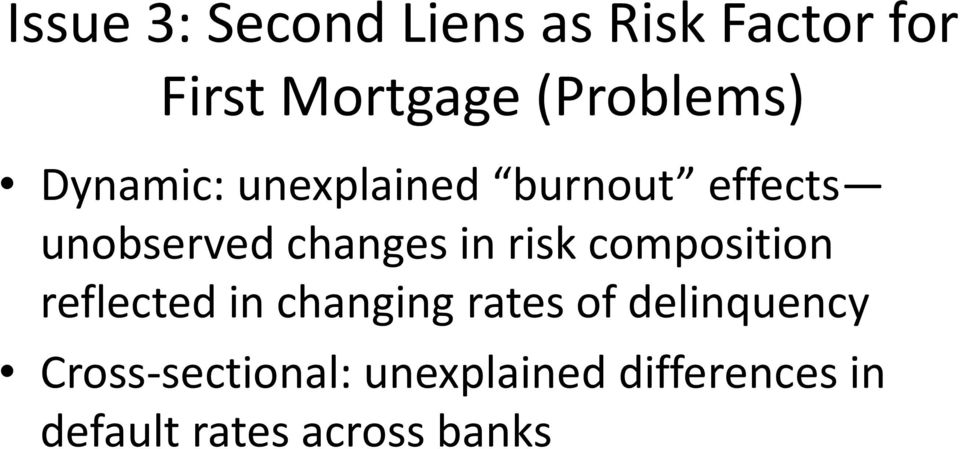 changes in risk composition reflected in changing rates of