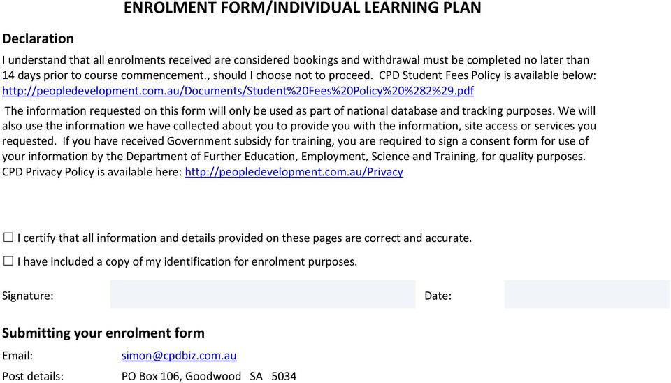 pdf The information requested on this form will only be used as part of national database and tracking purposes.