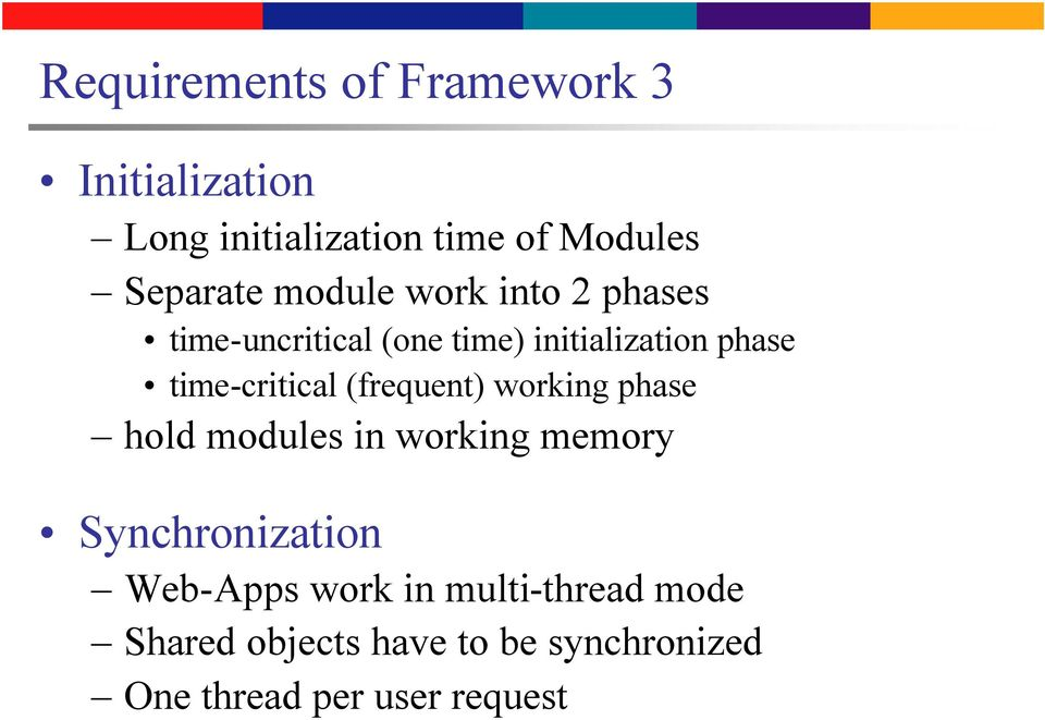 (frequent) working phase hold modules in working memory Synchronization Web-Apps work