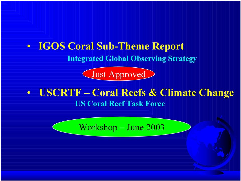 USCRTF Coral Reefs & Climate Change US