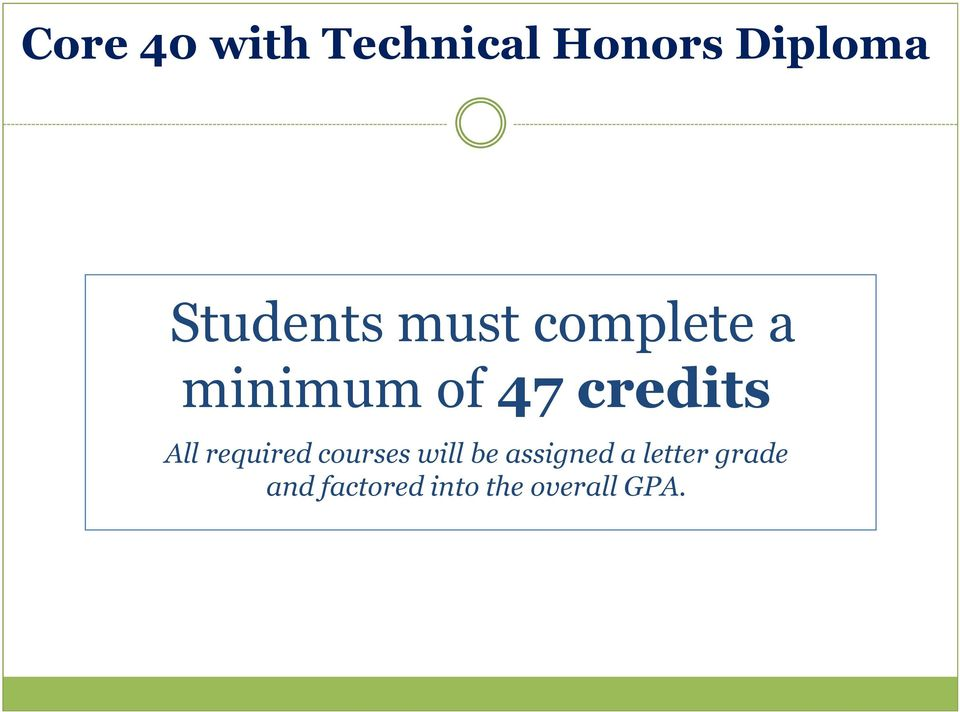 credits All required courses will be