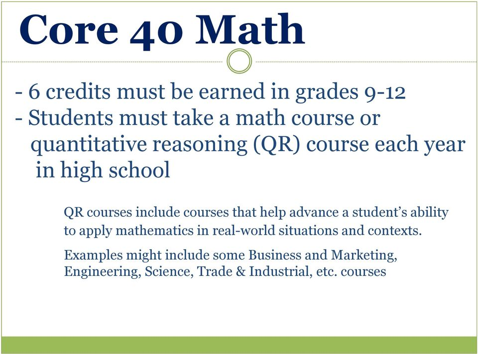 help advance a student s ability to apply mathematics in real-world situations and contexts.