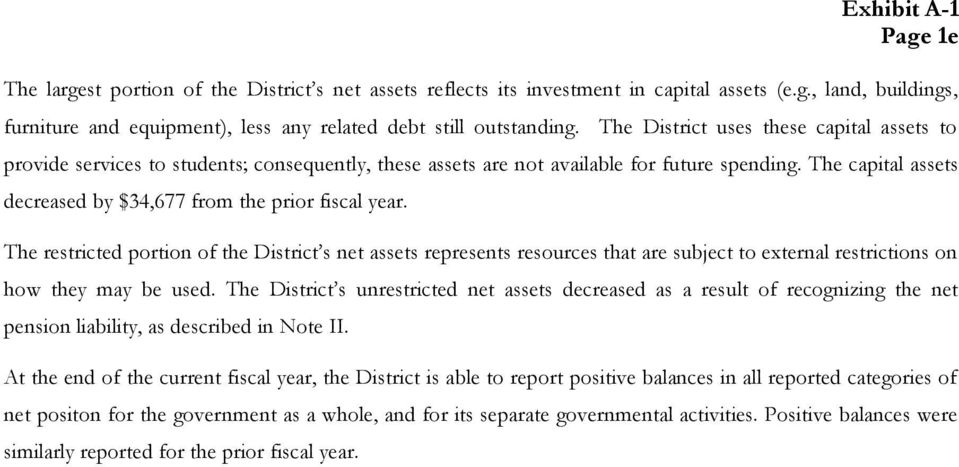 The capital assets decreased by $34,677 from the prior fiscal year.