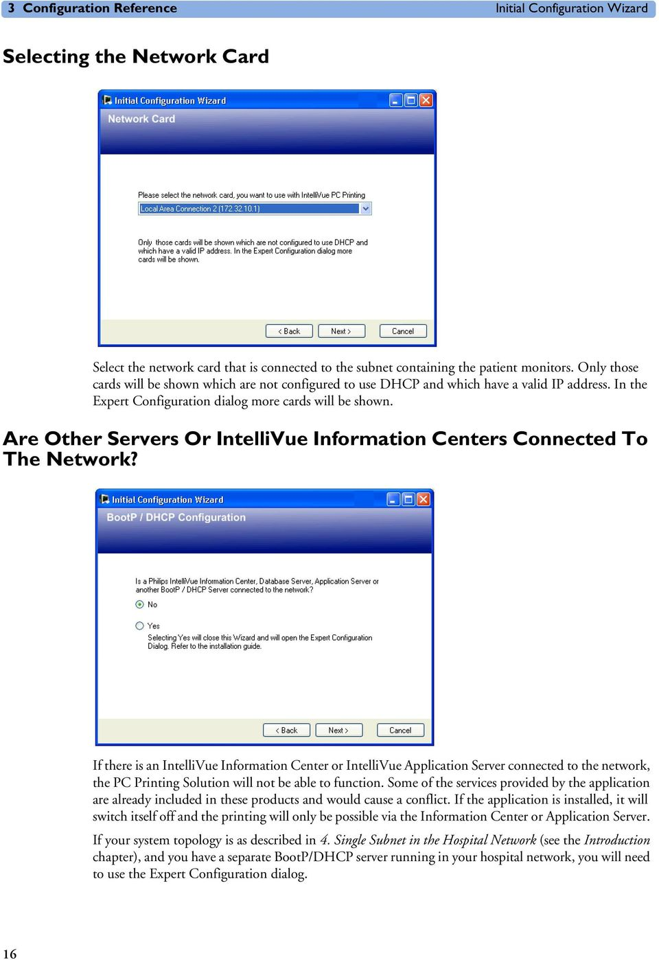 Are Other Servers Or IntelliVue Information Centers Connected To The Network?