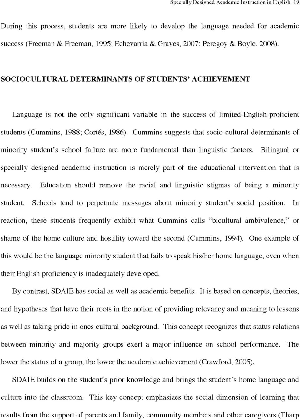Specially Designed Academic Instruction In English Sdaie For Language Minority Students Michael Genzuk Ph D Pdf Free Download