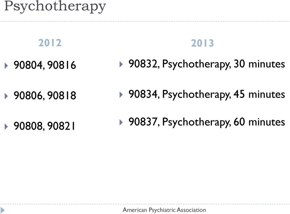 Psychotherapy, 30 minutes 90834,