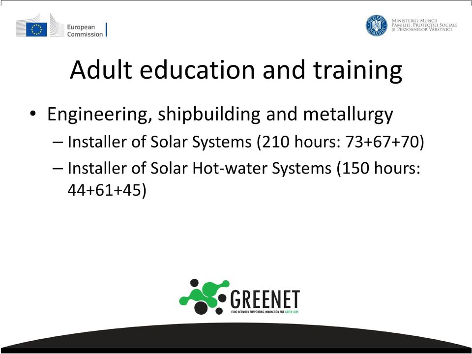 73+67+70) Installer of Solar Hot-water Systems (150