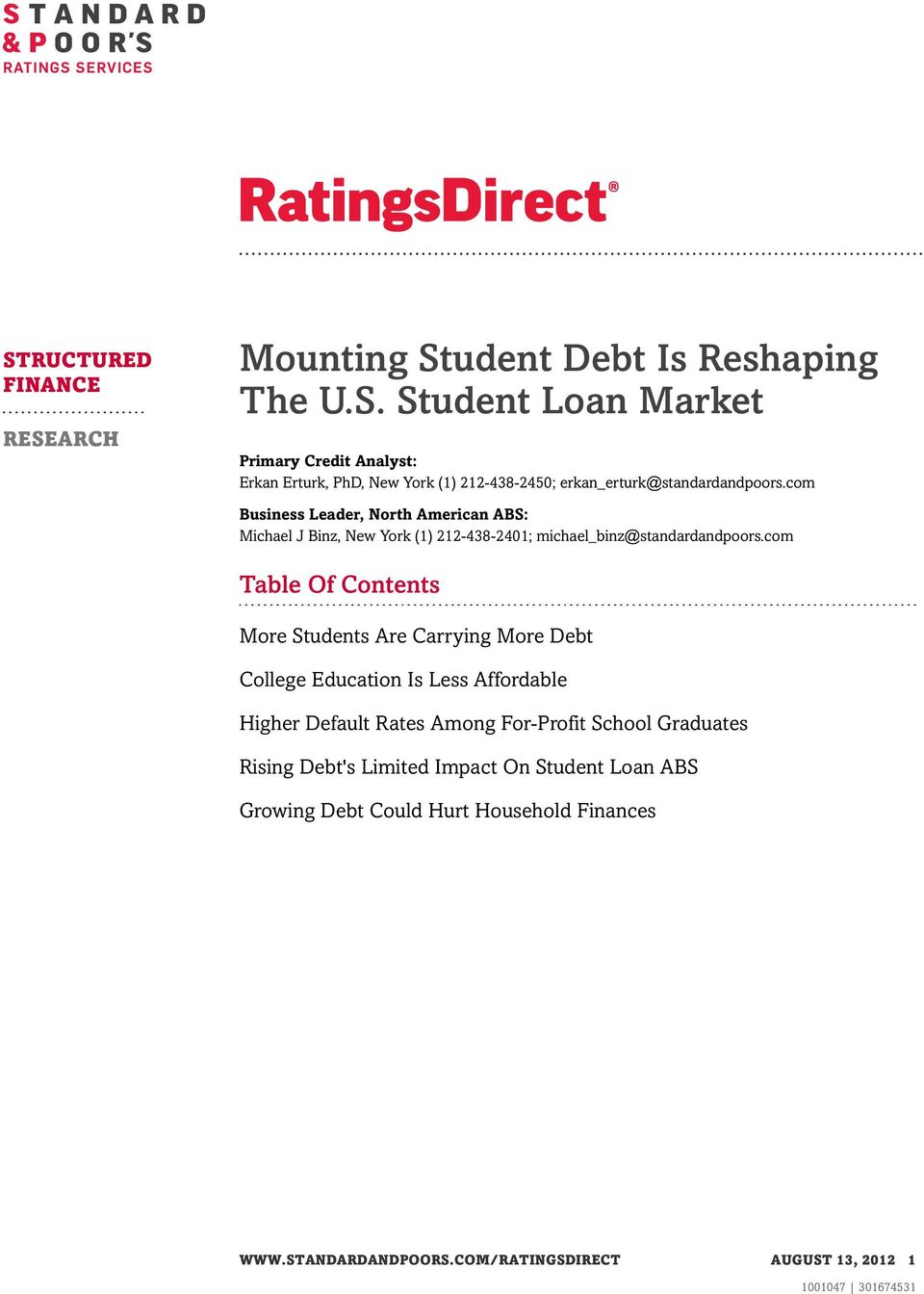 com Table Of Contents More Students Are Carrying More Debt College Education Is Less Affordable Higher Default Rates Among For-Profit School Graduates
