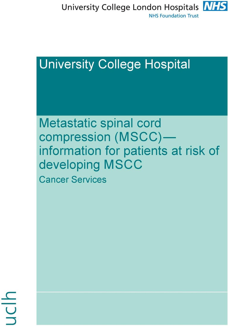 (MSCC) information for patients at