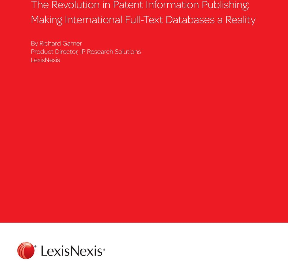 Full-Text Databases a Reality By Richard