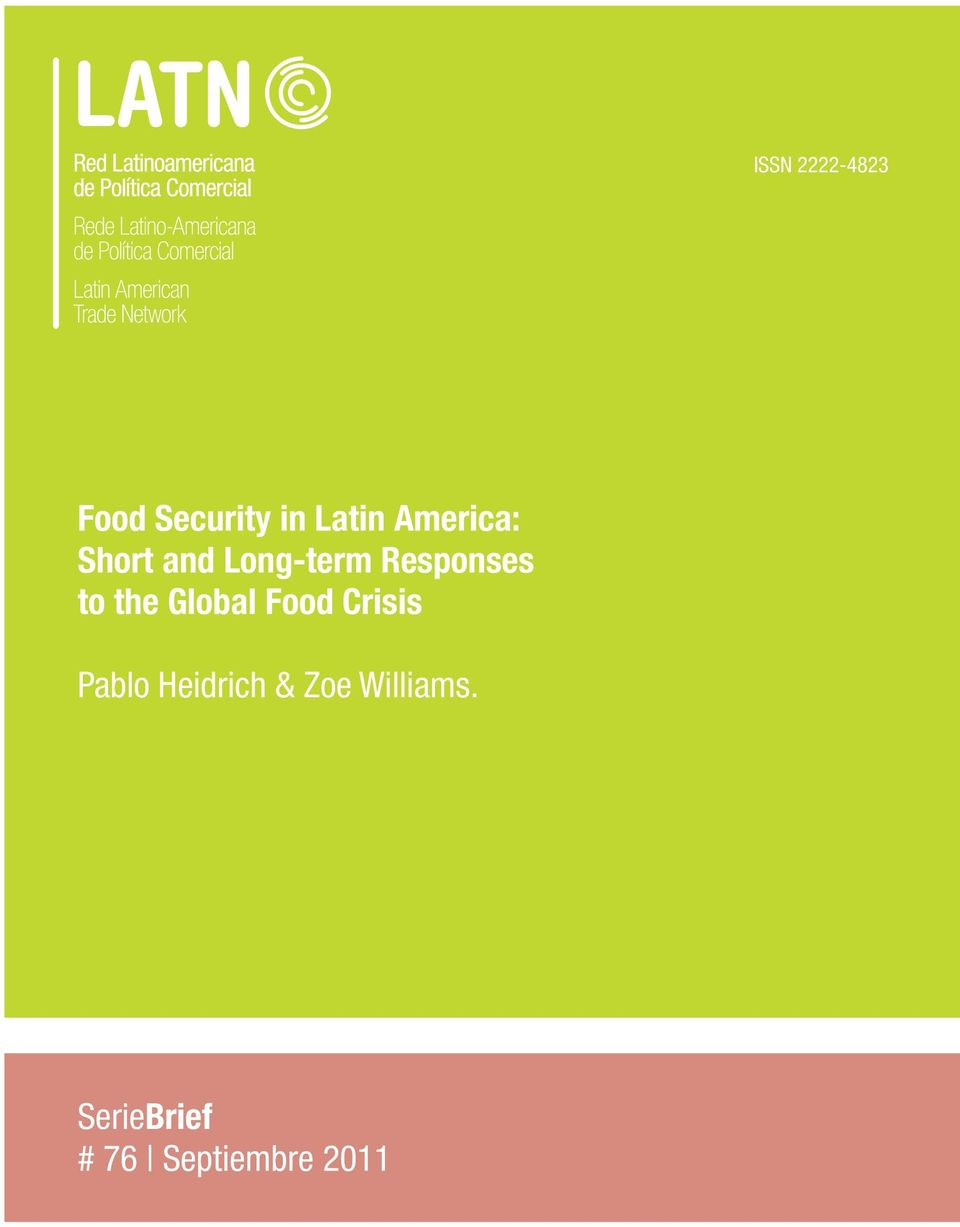 the Global Food Crisis Pablo Heidrich &