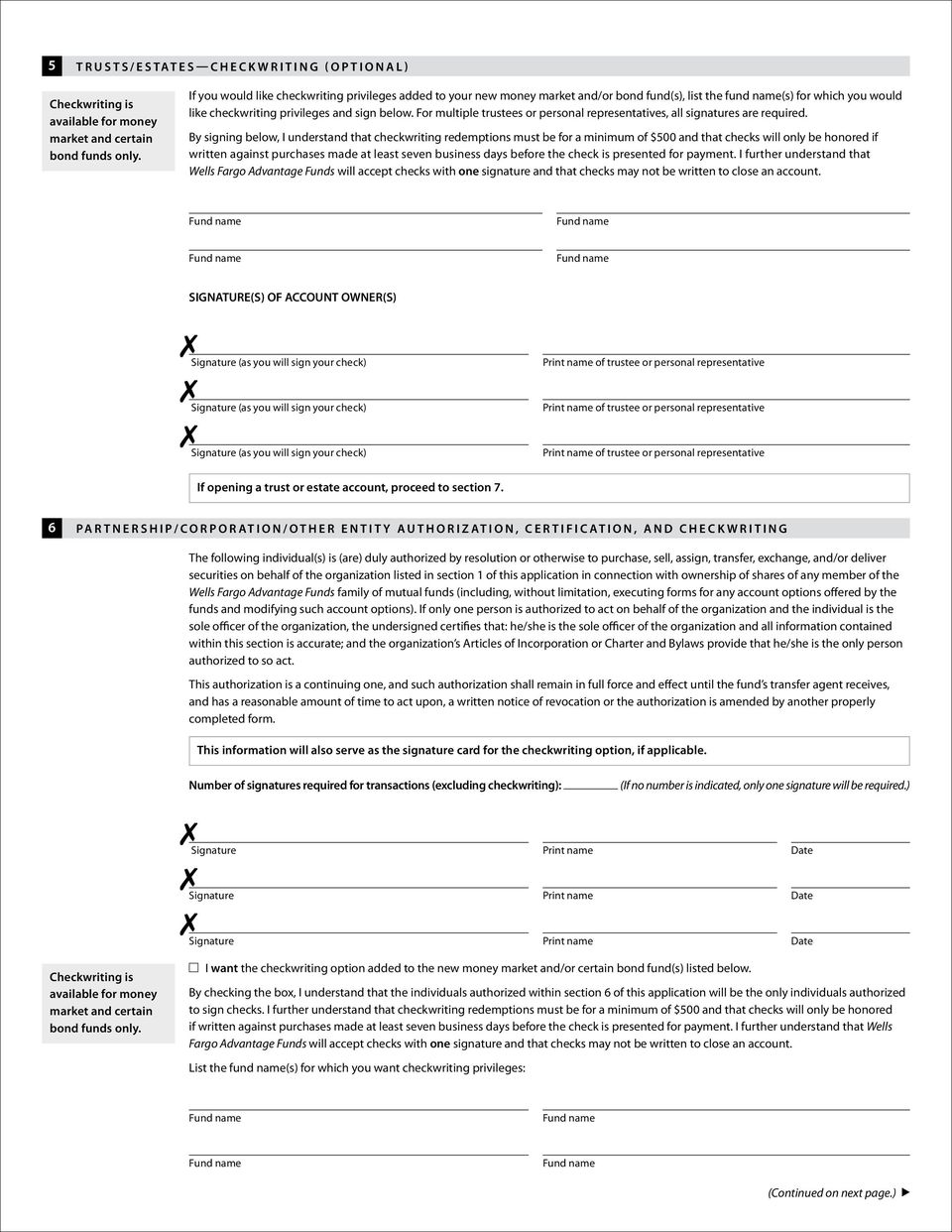 For multiple trustees or personal representatives, all signatures are required.