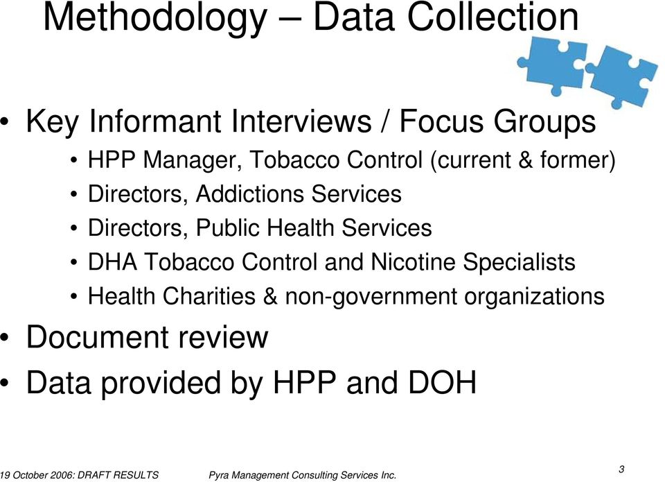 Directors, Public Health Services DHA Tobacco Control and Nicotine Specialists