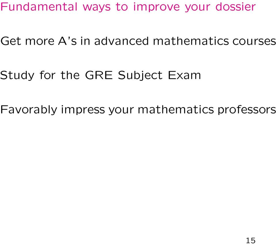 courses Study for the GRE Subject Exam