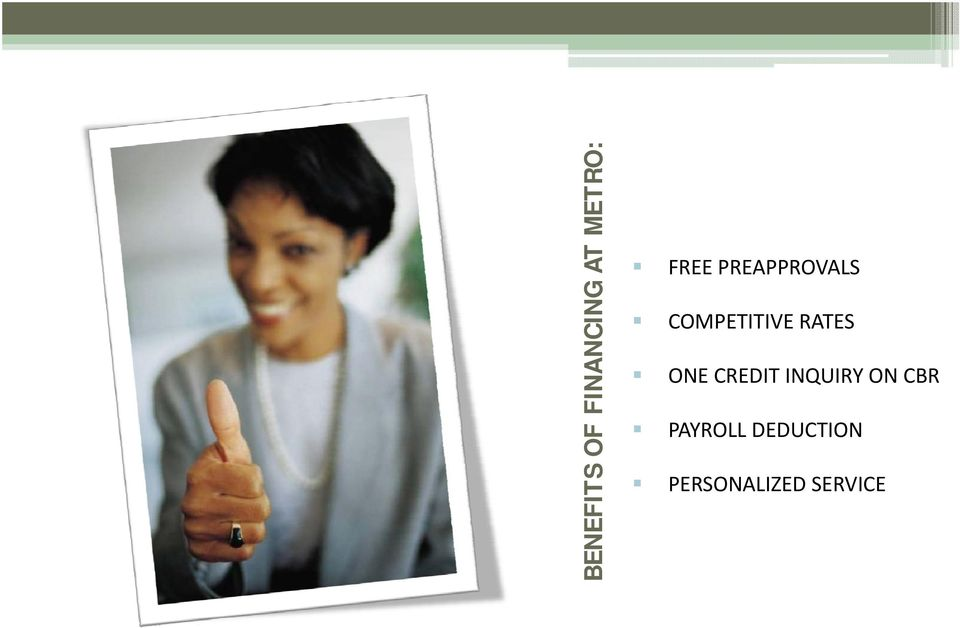 COMPETITIVE RATES ONE CREDIT