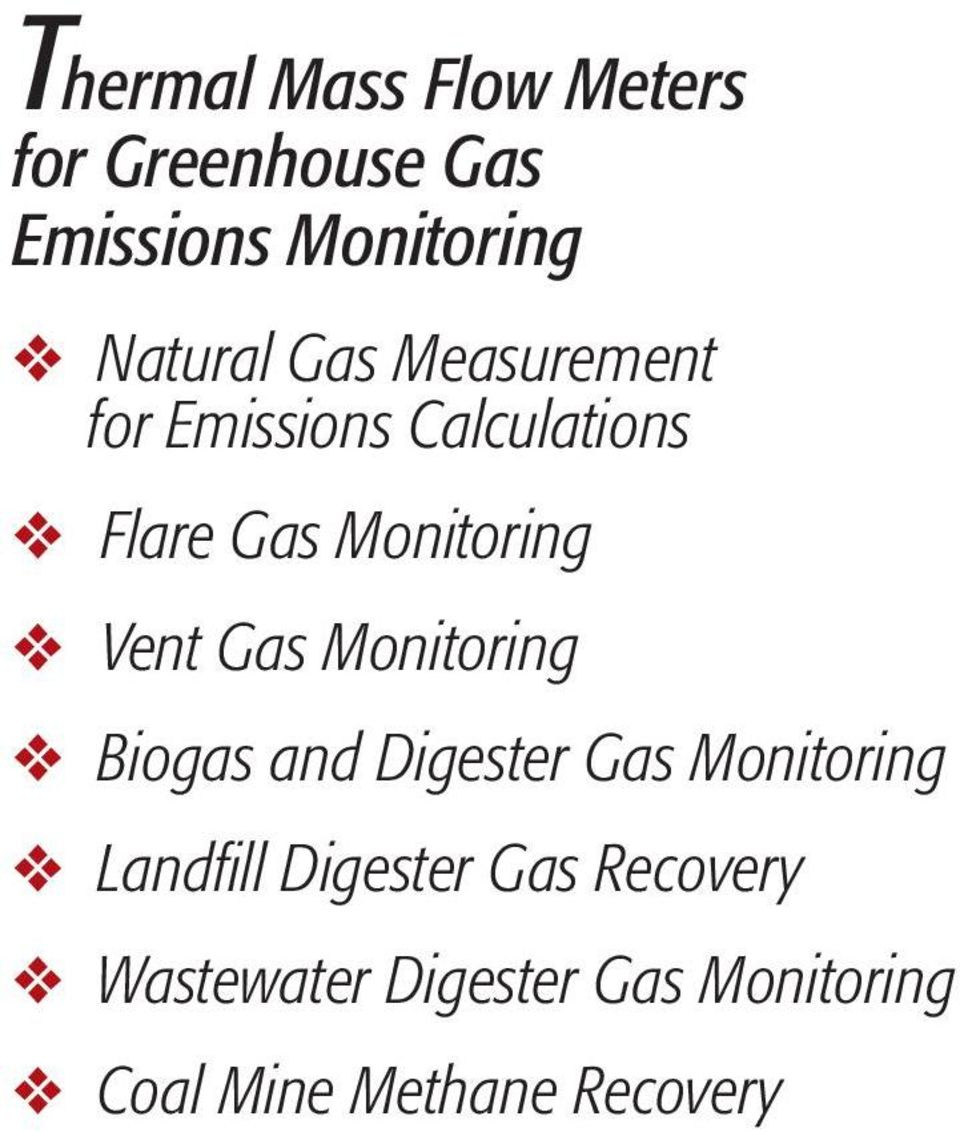Monitoring Vent Gas Monitoring Biogas and Digester Gas Monitoring